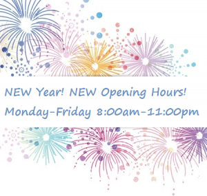 new year new open hours
